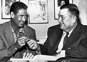 Ted Williams Posters - Ted Williams, And Tom Yawkey, Owner Poster by Everett