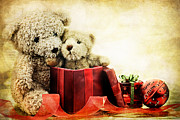 Opened Posters - Teddy Bear Christmas Poster by Stephanie Frey