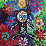 Dia De Los Muertos Paintings - Teddy Bear Day Of The Dead by Pristine Cartera Turkus