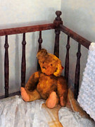 Crib Art - Teddy Bear in Crib by Susan Savad