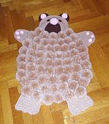 Интерьер: Мои коврики из помпонов Помпоны.  Фото 1.