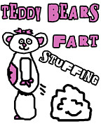 Teddybear Prints - Teddy Bears Fart Stuffing 2 Print by Jera Sky