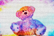 Child Digital Art - Teddy by Bill Cannon
