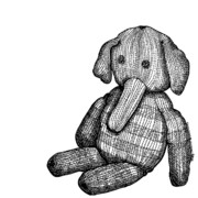 Youth Drawings Prints - Teddy Elephant Print by Karl Addison