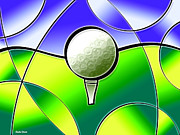 Caddy Digital Art Posters - Tee It Up Poster by Stephen Younts