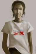 Shirt Digital Art - Tee Shirt Portrait by Kerry Beverly