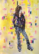 Clothed Figure Mixed Media Prints - Teen model Print by Gerald Swift