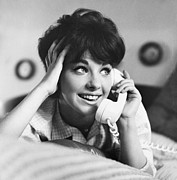 Nineteen Sixties Prints - Teenager on the Phone Print by Vivienne Della Grotta and Photo Researchers