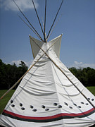 Teepee Prints - Teepee in Oklahoma  Print by Ann Powell