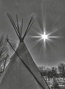 Winnipeg Posters - Teepee in the Forks Poster by Greggory Poitras