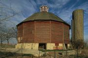 Illinois Barns Prints - Teeple Barn, Built Circa 1885 By Dairy Print by Ira Block