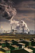 Polluting Prints - Teesside Refinery, England Print by John Short