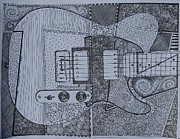 Fender Drawings Originals - Tele by KC Chapman
