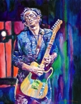 Celebrities Paintings - Telecaster- Keith Richards by David Lloyd Glover