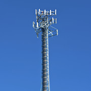 Cellphone Photo Prints - Telecommunications Tower Print by Eddy Joaquim