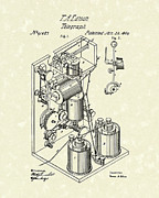 Edison Posters - Telegraph 1869 Patent Art Poster by Prior Art Design