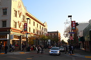 University Of California At Berkeley Metal Prints - Telegraph Avenue at Bancroft Way In Berkeley California  . 7D10173 Metal Print by Wingsdomain Art and Photography