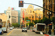 Telegraph Avenue In Oakland California Print by Wingsdomain Art and Photography
