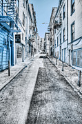 Fire Escape Metal Prints - Telegraph Hill Blue Metal Print by Scott Norris