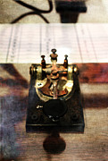 Knob Prints - Telegraph Key Print by Stephanie Frey