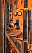 Antique Telephone Photos - Telephone - Antique hand cranked phone by Paul Ward