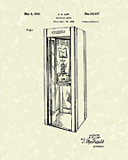 Telephone Drawings Framed Prints - Telephone Booth 1943 Patent Art Framed Print by Prior Art Design