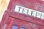 Ken Prints - Telephone Booth Print by Ken Powers