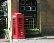 Red Photographs Pastels Posters - Telephone Booth Poster by Michael McKenzie