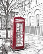 Mail Box Digital Art Framed Prints - Telephone Box Framed Print by Paul Hemmings