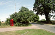 Old Country Roads Framed Prints - Telephone Box Framed Print by Victor De Schwanberg