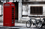 Telephone Booth Framed Prints - Telephone in London Framed Print by John Rizzuto