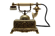 Antique Telephone Photos - Telephone by Olivier Le Queinec