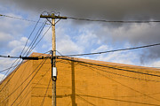 Telephone Lines Framed Prints - Telephone Pole and Wires Framed Print by Paul Edmondson