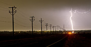 Lightening Prints - Telephone Poles Print by James Bo Insogna