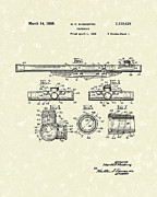 Star Gazing Posters - Telescope 1939 Patent Art Poster by Prior Art Design