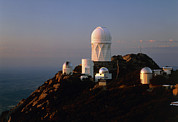 Domes Prints - Telescope Domes At The Kitt Peak Observatory Print by David Parker