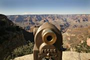 Knob Framed Prints - Telescope On The Edge Of Grand Canyon Framed Print by Dawn Kish