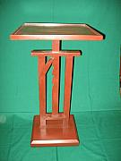 Hand Crafted Originals - Telescoping Candle Table by Honyocker Furniture