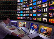 Technician Prints - Television Control Room Print by Mike Miller