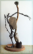 Wood Sculpture Sculpture Originals - Tell Me about It by Snake Jagger