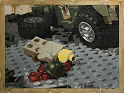 Lego Painting Framed Prints - Tellermine Aftermath Framed Print by Josh Bernstein