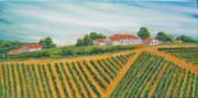 Winery Paintings - Temecula Wine Country by Mitchell McClenney