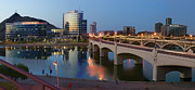 Calm Waters Photo Prints - Tempe Town Lake Pano Print by Dave Dilli