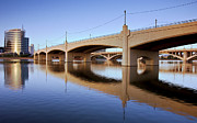 Serene Prints - Tempe Town Lake Reflections Print by Dave Dilli