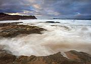 Seascape Posters - Tempestuous Sea Poster by Mike  Dawson