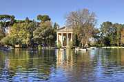 Pond Lake Photos - Tempio Esculapio - Rome by Joana Kruse
