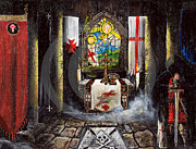 Templar Paintings - Templars  by John Palliser