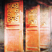 Outdoor Prints - Temple Doors Print by Skip Nall
