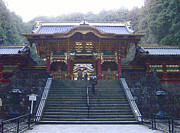 Japan Prints - Temple Entrance Print by Irina  March