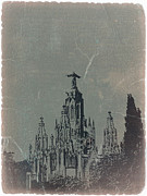 Barcelona Digital Art Posters - Temple Expiatory Poster by Irina  March